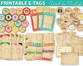 Week In The Life - Vintage Style (Printable E-Tags)