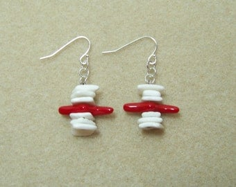 Ruby Coral and Shell Earrings