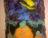 Pumpkin Patch Spooky Night Needle Felted ACEO