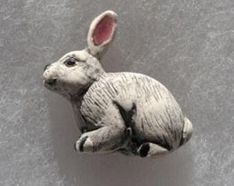 White Rabbit Peruvian Ceramic Bead (1)