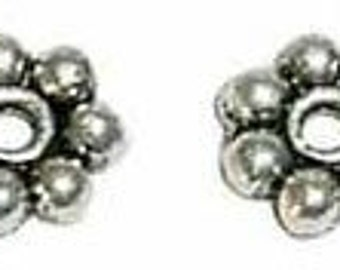 4mm Antiqued Pewter (Lead-Safe) Bali Style Daisy Spacers (50)