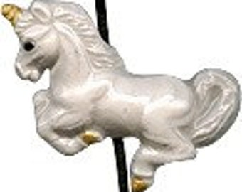 Peruvian Ceramic Unicorn Bead (1)