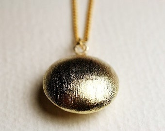 Gold Satin Necklace