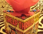 Janis Joplin cheap thrills TISSUE BOX HOLDER Cool Stuff Made From Records