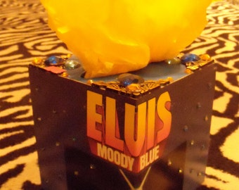 Elvis Presley moody blue TISSUE BOX HOLDER Cool Stuff Made From Records