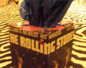 The Rolling Stones hit makers TISSUE BOX HOLDER Cool Stuff Made From Records