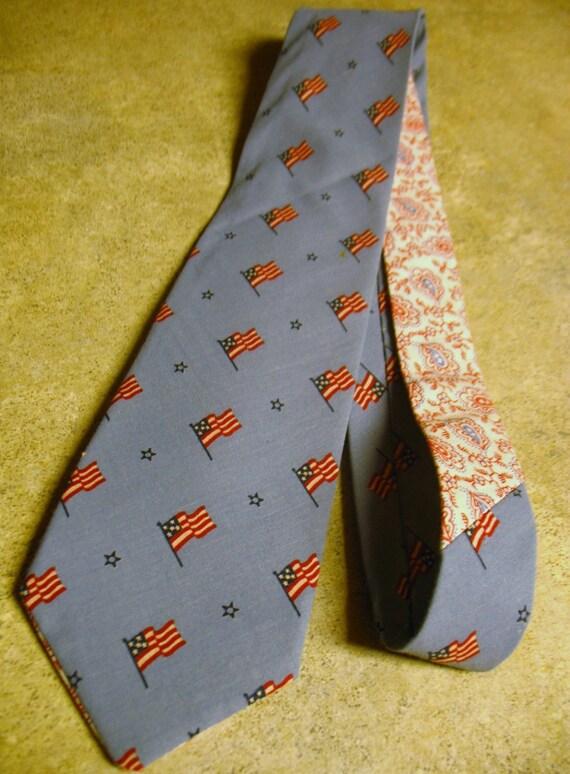 Wallace...Vintage Flag Fabric Men's Three inch Tie