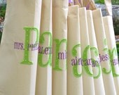 14 Bridesmaids Wedding Gift Perersonalized Tote Bag Appliqued Embroidered Monogrammed Custom Set
