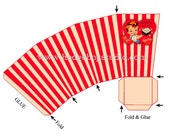 Two Vintage Style Retro Valentine Popcorn Box Boys and Girls  Great Favors Printable Edit