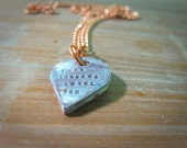 this tornado loves you -- porcelain poem pendant
