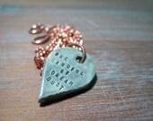 one handful of dream dust -- porcelain poem pendant