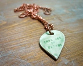 once out of nature -- porcelain poem pendant