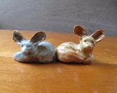 bat-eared foxes -- clay creatures