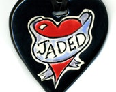 JADED Limited Edition Ceramic Necklace numbered on back 1 of 10