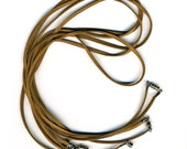 Brown Cords with Clasp 5 Pack