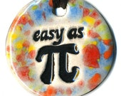 Easy as Pi Ceramic Necklace in  Rainbow Speckle