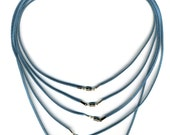 Turquoise Blue Cords with Clasp 5 Pack