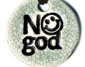 No God Ceramic Necklace in Crackle