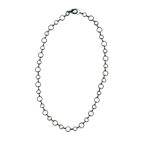 Up to 20 inch Gunmetal Tone Circle Link Chain with Lobster Clasp and Jump Ring