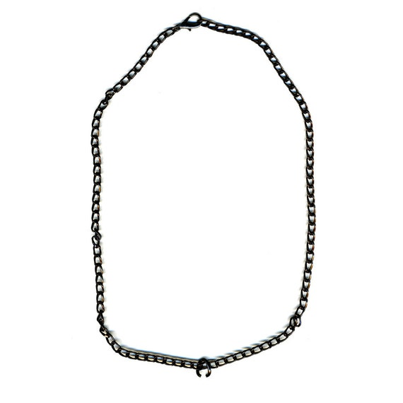 Up to 26 inch BLACK toned Aluminum Chain with Lobster Clasp and Jump Ring