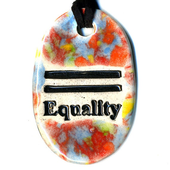Equality Ceramic Necklace in Multicolor Speckle