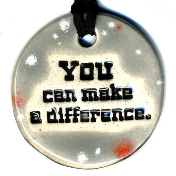 YOU Can Make a DIFFERENCE TAM 2012 Women's Grant Fundraiser Ceramic Necklace 16