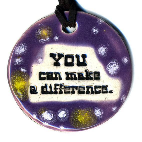 YOU Can Make a DIFFERENCE TAM 2012 Women's Grant Fundraiser Ceramic Necklace 24