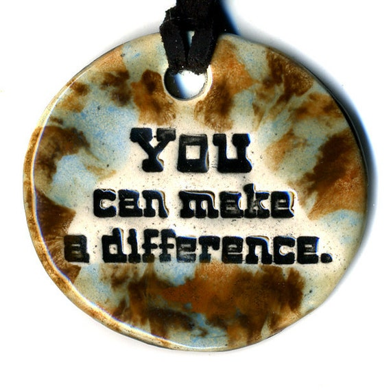 YOU Can Make a DIFFERENCE TAM 2012 Women's Grant Fundraiser Ceramic Necklace 28