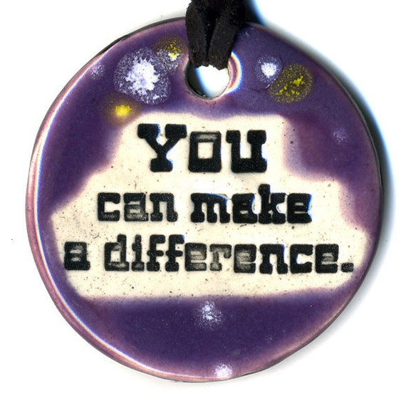 YOU Can Make a DIFFERENCE TAM 2012 Women's Grant Fundraiser Ceramic Necklace 42