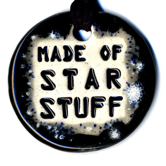 Made of Star Stuff Ceramic Necklace in Black and Gray