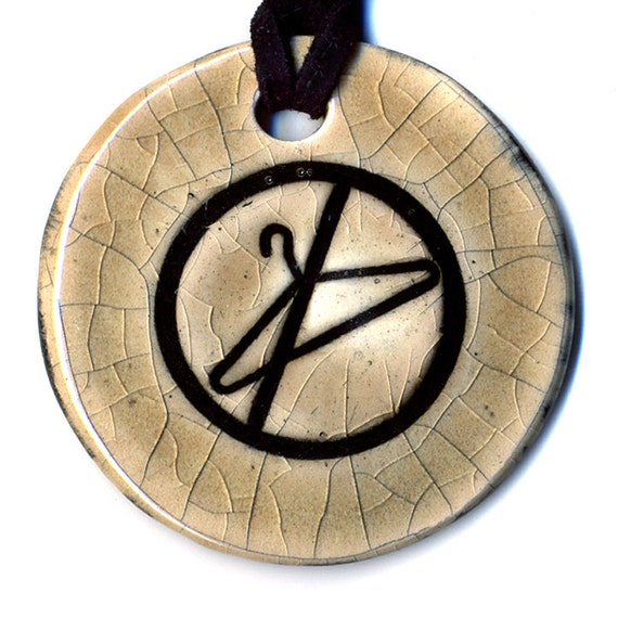 No Wire Hangers Keep Abortion Safe and Legal Ceramic Necklace in Mocha Crackle