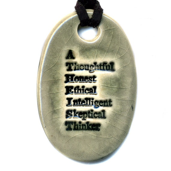 Atheist Necklace in Gray