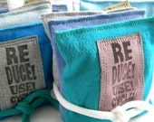 Lavender Sachet Pillows for the Dryer and more Reduce Reuse Recycle On SET of THREE