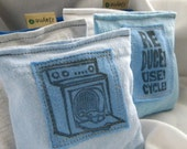 Eco Friendly Dryer Pillow Sheets Upcycled from tShirt Material SET of THREE