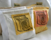 Organic Lavender Sachet Pillows for Dryer, Closets, Camping and more Set of Three
