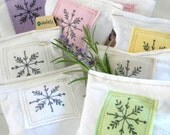Lavender Sachet Dryer Pillow Snowflake PATCHED Set of Three You choose