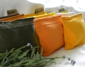 Laundry Sachets with Organic Lavender Dryer Pillow Sheets SET of THREE