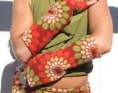 Flower Child fleece arm warmers by Krisztina Lazar