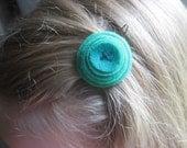 sale- surprise colorful felt spiral barrette, the littlest bean, gifts under 25