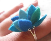 sample sale - felt succulent ring, one of a kind, the littlest bean