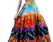 Adire tribes halter gown