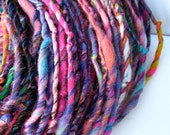 Reserved DeeeLite handspun hand dyed wool and silk single ply art yarn
