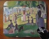 Sunday Afternoon on the Island of La Grande Jatte - Decorative Mouse Pad Mousepad for Home or Office
