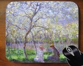Springtime - Claude Monet - Decorative Mouse Pad Mousepad for Home or Office