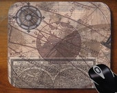 Vintage Map Image  Mouse Pad for Home or Office
