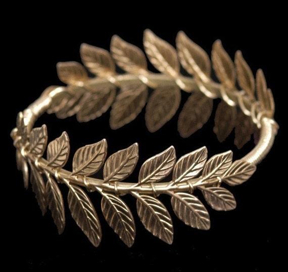 Brass Fern Leaf Bangle