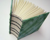 Fat Little Coptic Bound Square Book with Hand dyed Fabric Covered boards