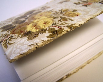 Blank Journal Vintage Wallpaper Cover Longstitch Binding -