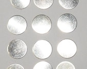 Sterling Silver Round Disc 24 gauge 1/2 inch 12 pieces