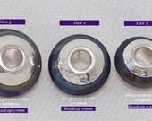 SALE Fits-Pandora Size 1, 2, 3 BeadCaps  Sterling Silver